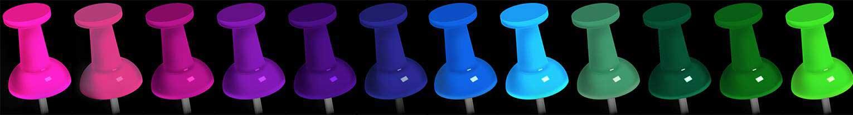 custom color options pushpins