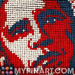 Barack Obama pushpin art