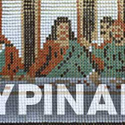 Last Supper pushpin art